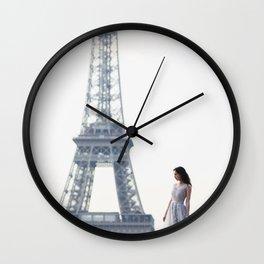 Eiffel girl Wall Clock