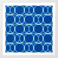 Blue Pattern Art Print