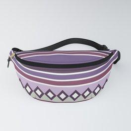 Stripes and diamonds geometric pattern purple Fanny Pack