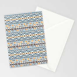Seamless Aztec Watercolor Pattern Stationery Cards