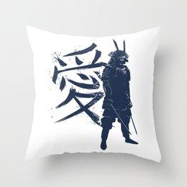 Kanji Samurai Throw Pillow