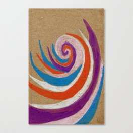 snoozy spiral Canvas Print