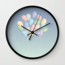 Balloons bouquet Wall Clock