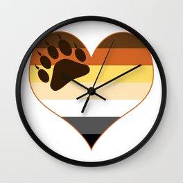 Bear Heart Paw Edition Wall Clock