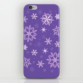 snowflakes on the blue iPhone Skin
