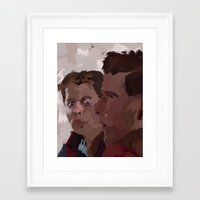 marty mcfly Framed Art Prints featuring Marty & George McFly by Lee_B