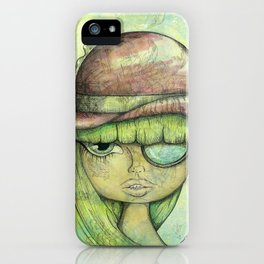 Pink Bowler Hat iPhone Case