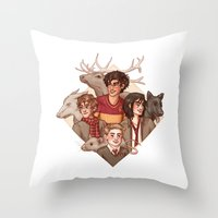 marauders Throw Pillows featuring The Marauders by Susanne