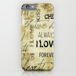 Arrow in the heart iPhone Case