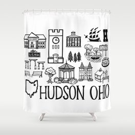 Hudson Ohio Map Shower Curtain
