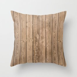 Wood I Throw Pillow