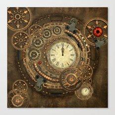 Steampunk, clockwork Canvas Print