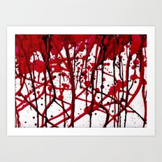 BLOODY VEINS  Art Print