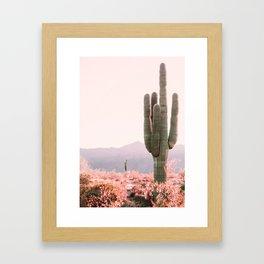 Vintage Cactus Gerahmter Kunstdruck