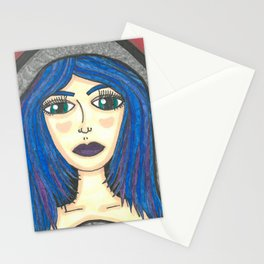Fur Hooded Girl Stationery Cards