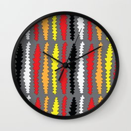 Coloured Worms Wall Clock