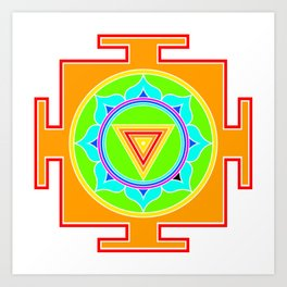 Kali yantra colorful symbol Art Print