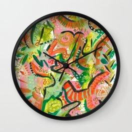 Acrylic Painting - Abstract 4 Wall Clock