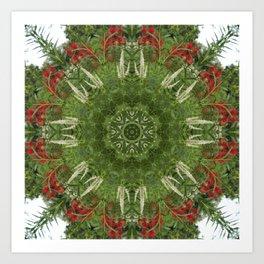 Cardinal flower and Culver's root kaleidoscope Art Print