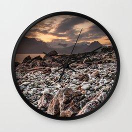 Beach lac Ecosse 4 Wall Clock