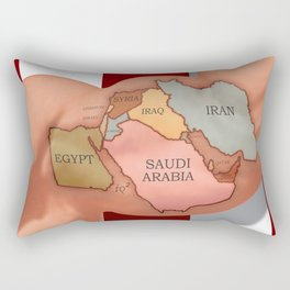 Flexing America's Muscles In The Middle East Will Make Things Worse Rectangular Pillow