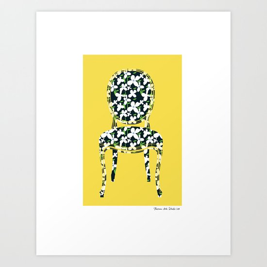 Sit Among The Daisies  Art Print