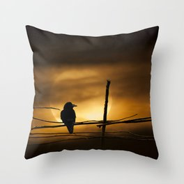 Never More Quoth The Raven Throw Pillow