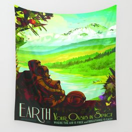 Vintage poster - Earth Wall Tapestry