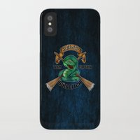 quidditch iPhone & iPod Cases featuring Slytherine quidditch team captain by JanaProject
