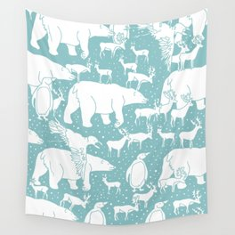Polar gathering (peppermint) Wall Tapestry