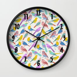 Dazzling Colored Bird Pattern Wall Clock