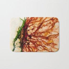 Luck Flower Abstract Art Bath Mat