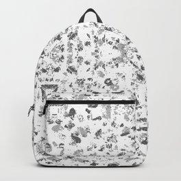 gray glass and stone chip mosaic motif tile pattern boho mandala Backpack