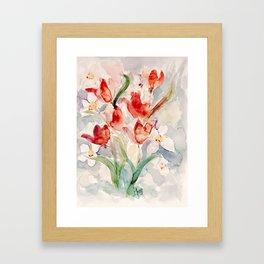 Tulips and Narcissi for Easter Framed Art Print