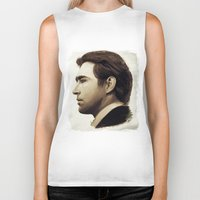 lee pace Biker Tanks featuring Lee Pace by LindaMarieAnson