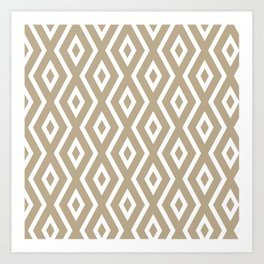 Brown Diamond Pattern Art Print