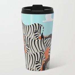 Vintage African Zebras  Travel Mug