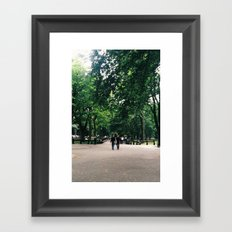 Central Park Stroll Framed Art Print