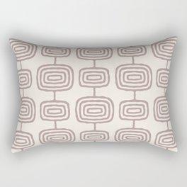 Mid Century Modern Atomic Rings Pattern Beige 3 Rectangular Pillow