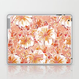 KOMBUCHA-CHA Orange Tropical Hibiscus Floral Laptop & iPad Skin