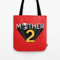 earthbound Tote Bags featuring Mother 2 / Earthbound Promo by Studio Momo╰༼ ಠ益ಠ ༽