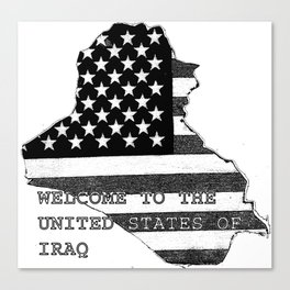 Welcome to the United States of Iraq Canvas Print