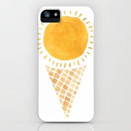 Sun Ice Cream Cone iPhone Case