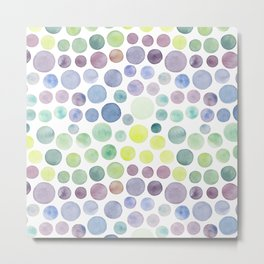 Dots purple and green Metal Print