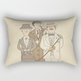 The Detectives - Miss Marple, Sherlock Holmes, Hercule Poirot Rectangular Pillow