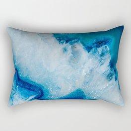 Royally Blue Agate Rectangular Pillow