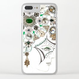 Mandala Headdress Clear iPhone Case