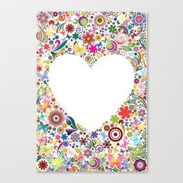 Frame's heart I Canvas Print