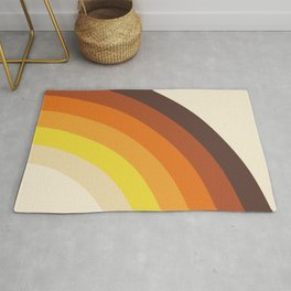 70's Rainbow Print Rug