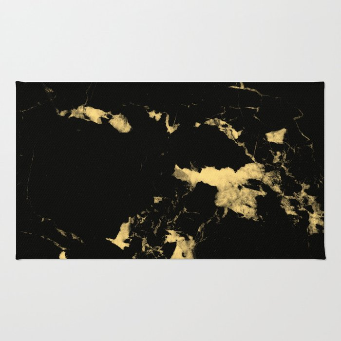 Black Marble #5 #decor #art #society6 Rug
